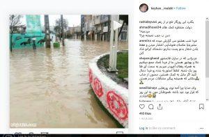واکنش کیهان ملکی به سیل مازندران