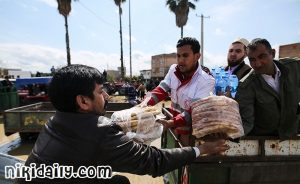 امداد رسانی به سیل زدگان گلستان