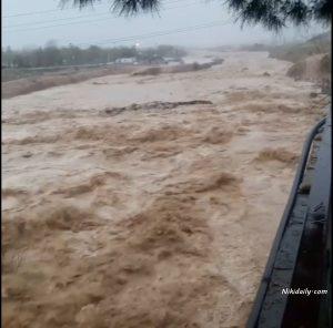 سیل در استان کهگیلویه و بویراحمد روستای آبیدک