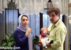 جواد عزتی در آینه بغل