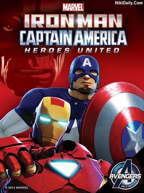 دانلود انیمیشن Iron Man and Captain America: Heroes United 2014 با دوبله فارسی و زیرنویس فارسی