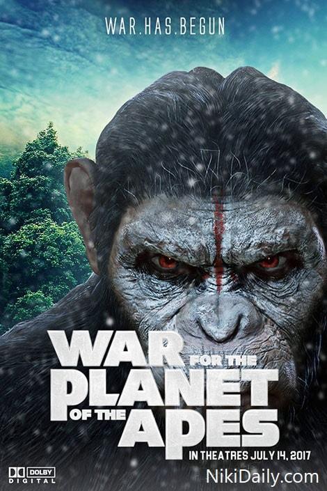 دانلود فیلم جنگ برای سیاره میمون ها 2017 War for the Planet of the Apes با دوبله فارسی و زیرنویس فارسی