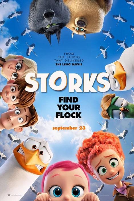 دانلود انیمیشن لک لک ها Storks 2016 با دوبله فارسی و زیرنویس فارسی