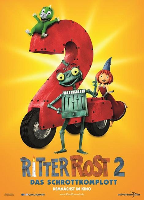 دانلود انیمیشن ریتر روست 2 ربات آهنی Ritter Rost 2: Das Schrottkomplott 2017 با دوبله فارسی