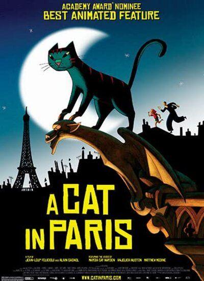 دانلود انیمیشن A Cat in Paris گربه ای در پاریس 2010 با دوبله فارسی